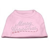 Mirage Pet Products Merry Christmas Rhinestone Shirt Light Pink XL (16)