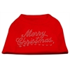 Mirage Pet Products Merry Christmas Rhinestone Shirt Red XS (8)
