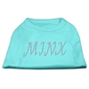 Mirage Pet Products Minx Rhinestone Shirts Aqua XXXL(20)