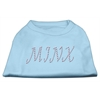 Mirage Pet Products Minx Rhinestone Shirts Baby Blue XXXL(20)