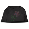 Mirage Pet Products Multi-Colored Flower Rhinestone Shirt Black XS (8)