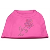 Mirage Pet Products Multi-Colored Flower Rhinestone Shirt Bright Pink M (12)