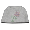 Mirage Pet Products Multi-Colored Flower Rhinestone Shirt Grey XL (16)