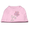 Mirage Pet Products Multi-Colored Flower Rhinestone Shirt Light Pink XXL (18)