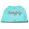 Mirage Pet Products Naughty But Nice Rhinestone Shirts Aqua L (14)