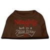Mirage Pet Products Naughty But Nice Rhinestone Shirts Brown XS (8)