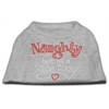 Mirage Pet Products Naughty But Nice Rhinestone Shirts Grey S (10)