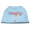 Mirage Pet Products Naughty But Nice Rhinestone Shirts Baby Blue XXXL(20)