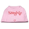 Mirage Pet Products Naughty But Nice Rhinestone Shirts Light Pink XXXL(20)
