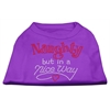 Mirage Pet Products Naughty But Nice Rhinestone Shirts Purple XS (8)
