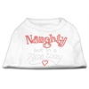 Mirage Pet Products Naughty But Nice Rhinestone Shirts White XXXL(20)