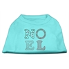 Mirage Pet Products Noel Rhinestone Dog Shirt Aqua XXXL (20)