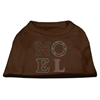 Mirage Pet Products Noel Rhinestone Dog Shirt Brown Med (12)