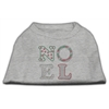 Mirage Pet Products Noel Rhinestone Dog Shirt Grey Lg (14)