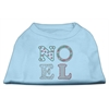 Mirage Pet Products Noel Rhinestone Dog Shirt Baby Blue XXXL (20)
