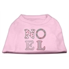 Mirage Pet Products Noel Rhinestone Dog Shirt Light Pink XL (16)