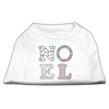 Mirage Pet Products Noel Rhinestone Dog Shirt White XL (16)