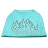 Mirage Pet Products Outlaw Rhinestone Shirts Aqua XXL (18)