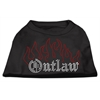 Mirage Pet Products Outlaw Rhinestone Shirts Black XXXL(20)
