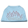 Mirage Pet Products Outlaw Rhinestone Shirts Baby Blue XXXL(20)