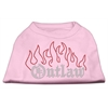 Mirage Pet Products Outlaw Rhinestone Shirts Light Pink XXXL(20)