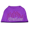 Mirage Pet Products Outlaw Rhinestone Shirts Purple XXXL(20)