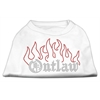 Mirage Pet Products Outlaw Rhinestone Shirts White XXL (18)