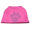 Mirage Pet Products Blue Paw Rhinestud Shirt Bright Pink XXXL(20)