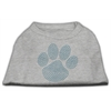 Mirage Pet Products Blue Paw Rhinestud Shirt Grey XXXL(20)