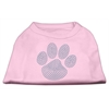 Mirage Pet Products Blue Paw Rhinestud Shirt Light Pink XXXL(20)