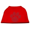 Mirage Pet Products Blue Paw Rhinestud Shirt Red XXXL(20)