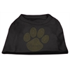 Mirage Pet Products Gold Paw Rhinestud Shirt Black XXL (18)