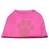 Mirage Pet Products Gold Paw Rhinestud Shirt Bright Pink XXXL(20)