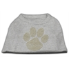 Mirage Pet Products Gold Paw Rhinestud Shirt Grey XXXL(20)