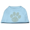 Mirage Pet Products Gold Paw Rhinestud Shirt Baby Blue XXXL(20)