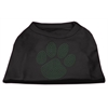 Mirage Pet Products Green Paw Rhinestud Shirts Black XXXL(20)
