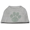 Mirage Pet Products Green Paw Rhinestud Shirts Grey XXXL(20)
