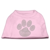 Mirage Pet Products Green Paw Rhinestud Shirts Light Pink XXXL(20)
