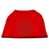 Mirage Pet Products Green Paw Rhinestud Shirts Red XXXL(20)