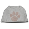 Mirage Pet Products Orange Paw Rhinestud Shirts Grey M (12)