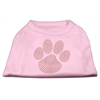 Mirage Pet Products Orange Paw Rhinestud Shirts Light Pink XXXL(20)