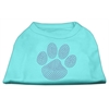 Mirage Pet Products Purple Paw Rhinestud Shirts Aqua XXXL(20)