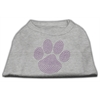 Mirage Pet Products Purple Paw Rhinestud Shirts Grey XXXL(20)