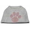 Mirage Pet Products Red Paw Rhinestud Shirts Grey XXXL(20)