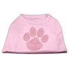 Mirage Pet Products Red Paw Rhinestud Shirts Light Pink XXXL(20)