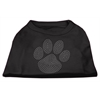Mirage Pet Products Clear Rhinestone Paw Shirts Black XXL (18)