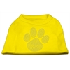 Mirage Pet Products Clear Rhinestone Paw Shirts Yellow XS (8)