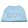Mirage Pet Products Peace, Love, and Candy Canes Shirts Baby Blue XXXL(20)