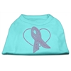 Mirage Pet Products Pink Ribbon Rhinestone Shirts Aqua XS (8)