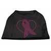 Mirage Pet Products Pink Ribbon Rhinestone Shirts Black XS (8)